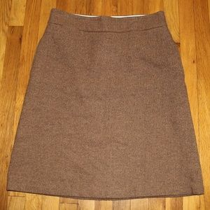 Land's End Herringbone Wool Skirt 12